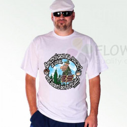 Tričko Špatný den na posedu bílá