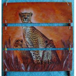 Obrázek trojdílný 3D Gepardi