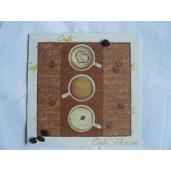 Obrázek čtverec Hrníčky s kávou