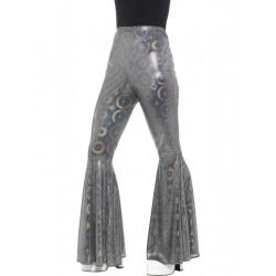 Kalhoty Hippie, dámské stříbrné