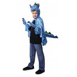 Dětský kostým Dinosaurus modrý