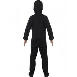 Dětský kostým Ninja černo-modrý