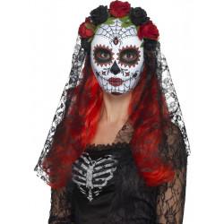 Maska Lebka se závojem Den mrtvých