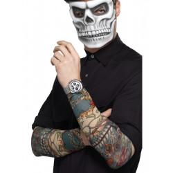 Rukávy s tetováním Den mrtvých