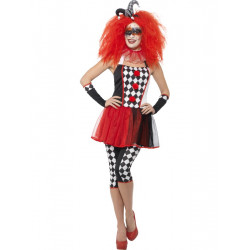 Kostým Zlověstná harlequinová