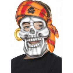 Maska Pirátská lebka dětská
