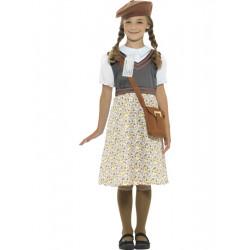 Dětský kostým Evakuovaná školačka