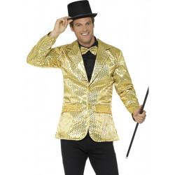 Flitrové sako zlaté