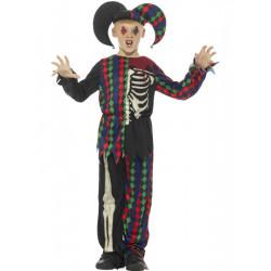 Dětský kostým Šašek kostlivec