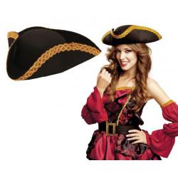 Klobouk Pirát se zlatým lemem