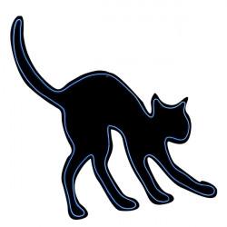 Silueta kočky neonová