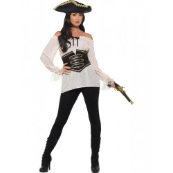 Pirátská košile dámská, bílá