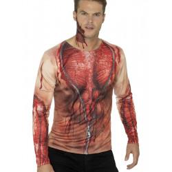 Tričko 3D Rozepnutá kůže