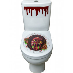 Nálepky na záchod Zombie