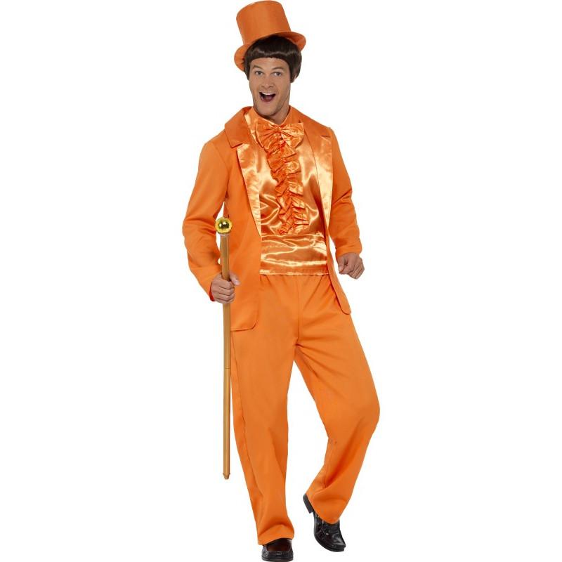 Kostým Bláznivý oblek oranžový