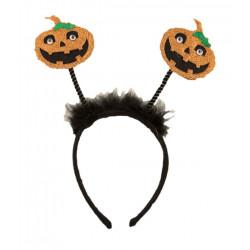 Čelenka Halloween dýně