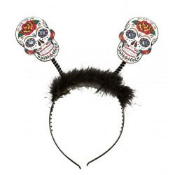 Čelenka Halloween lebky různé druhy