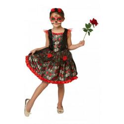 Dětský kostým Red Rose Day of the dead