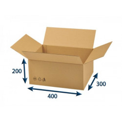 Kartonová krabice 3VVL 400 x 300 x 200