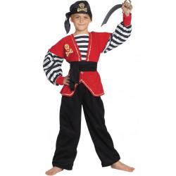 Kostým Sexy pirátka černá/zlatá