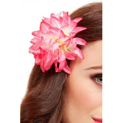 Havajská květina růžovo-bílá