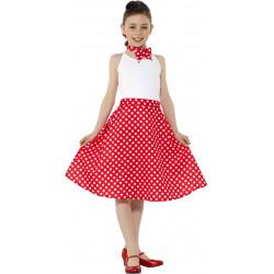 Dětský kostým 50. léta červená