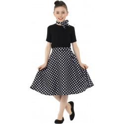 Dětský kostým 50. léta černá