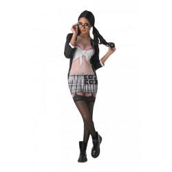 Šaty s 3D potiskem Sexy školačka