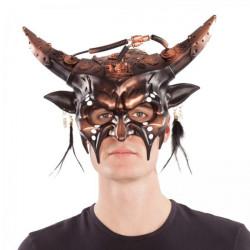 Maska Steampunk s rohy