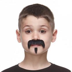 Dětský knír černý s bradkou
