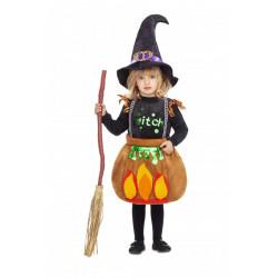 Dětský kostým Čarodějnice v kotlíku