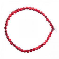 Náhrdelník červené lebky malé