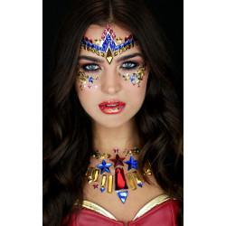 Třpytivé ozdoby na obličej Wonder Woman