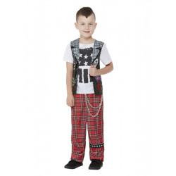 Dětský kostým 90.léta Punk Rocker
