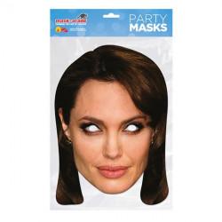 Papírová maska Angelina Jolie