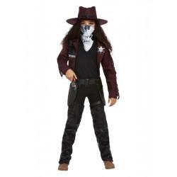 Dětský kostým Temná kovbojka