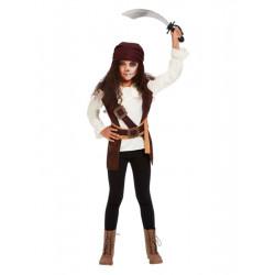 Dětský kostým Temná pirátka