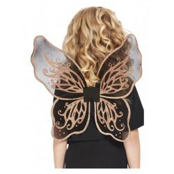 Dětská křídla černá se zlatými glitry