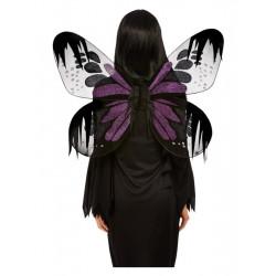Křídla černo fialová 65 cm