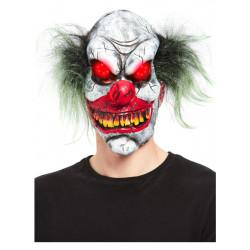 Maska Ďábelský klaun svítící oči