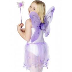 Dětská křídla a hůlka fialová