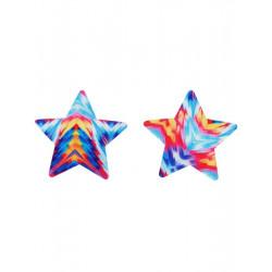 Lepítka na bradavky hvězda barevná