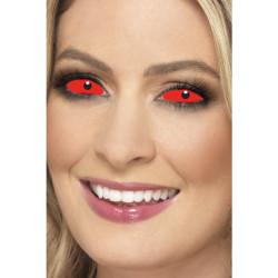 Oční čočky Sclera červené
