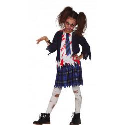 Dětský kostým Zombie školačka