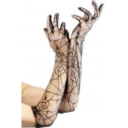 Krajkové rukavice pavučina