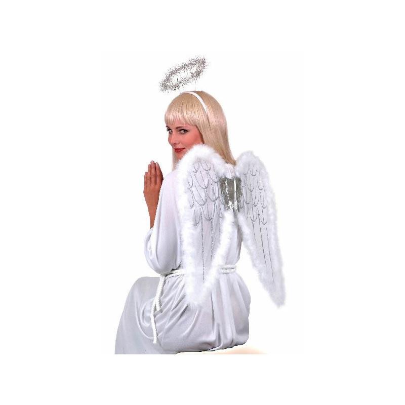 Sada Bílá křídla a svatozář 55x50 cm