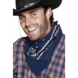Šátek na krk western modrý