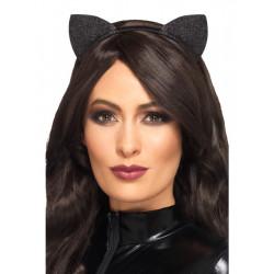 Čelenka Kočičí uši glitrové