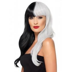 Paruka Deluxe bílo černá