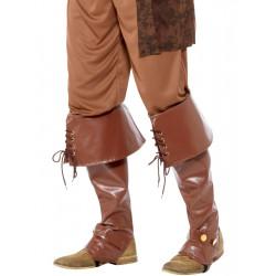 Návleky na boty Pirát, hnědé